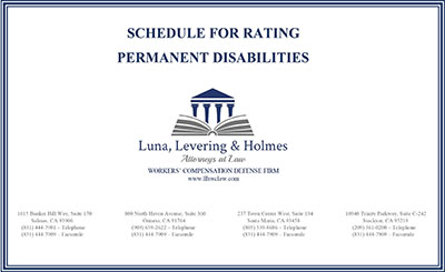 Schedule for Rating Permanent Disabilities Thumbnail
